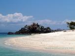 beach at bidadari island - labuan bajo