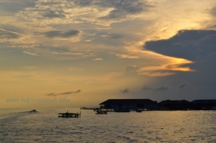 sunset at derawan
