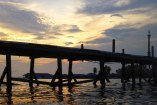 under the bridge at derawan