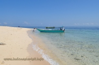 kid playing with boat at samalona beach