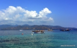 Lombok island, view from Gili Trawangan