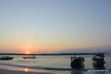 sunrise at Gili Trawangan