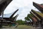 Nanggala Penanian' Tongkonan (left) and Alang (right)